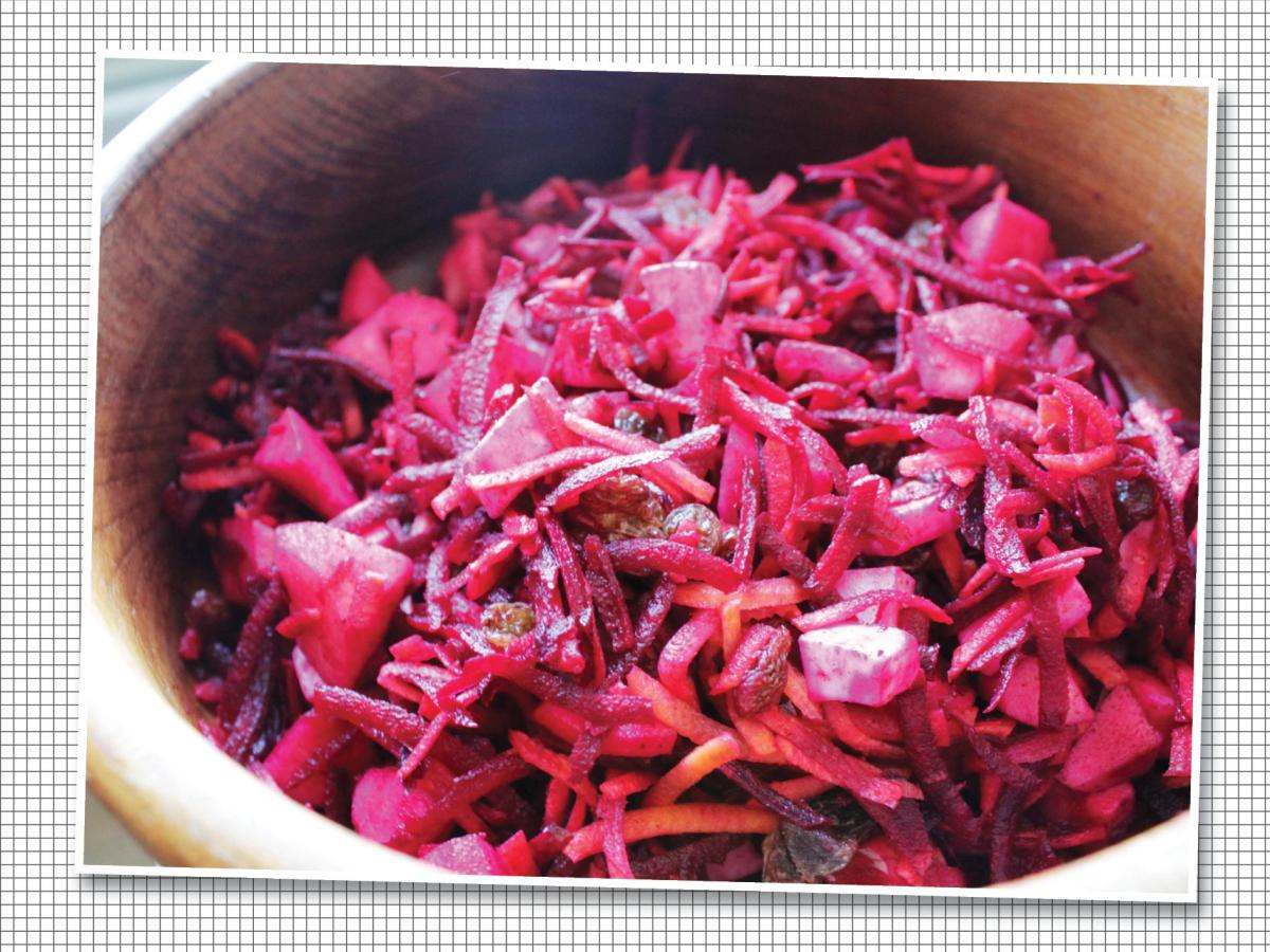 rauwe rode biet salade